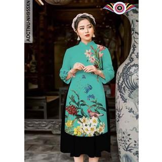 Áo dài cách tân (nguyên áo) - màu xanh ngọc - XNCX2020 thumbnail