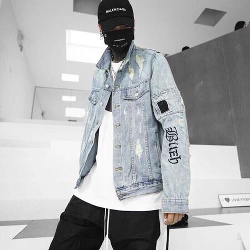 Áo khoác jean nam thời trang