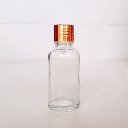 Combo 10 chai đựng tinh dầu 30ml , thủy tinh trong suốt, nút nhỏ giọt, nắp nhôm vàng