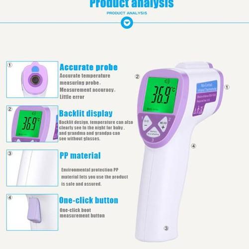 Bảo hành 12 tháng súng bắn nhiệt độ nhiệt kế hồng ngoại đo nhiệt độ cho trẻ siêu nhạy đo nhiệt độ nước tắm cho bé