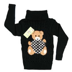 Áo len gấu cao cổ siêu dầy siêu ấm cho bé từ 12-18kg- áo len cho bé-áo len cổ lọ cho bé