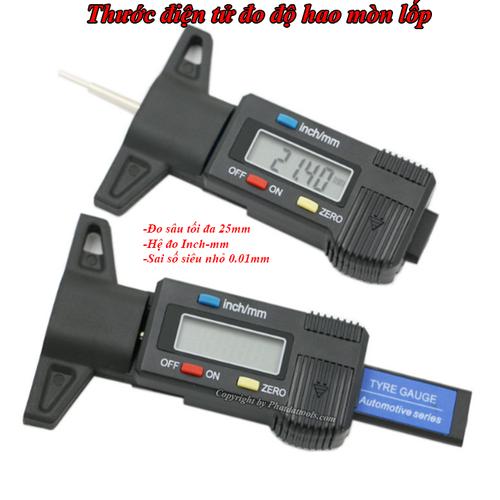 Thước đo độ hao mòn lốp điện tử