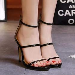 Giày cao gót 3 quai ngang mảnh