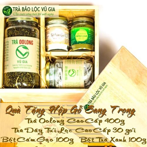 [Hộp quà tặng] trà oolong cao cấp 400g + trà dây túi lọc cao cấp 30 gói + bột cám gạo + bột trà xanh [100g-hũ] nguyên chất bảo lộc vũ gia - đã được kiểm nghiệm y tế - 21311648 , 24545408 , 15_24545408 , 780000 , Hop-qua-tang-tra-oolong-cao-cap-400g-tra-day-tui-loc-cao-cap-30-goi-bot-cam-gao-bot-tra-xanh-100g-hu-nguyen-chat-bao-loc-vu-gia-da-duoc-kiem-nghiem-y-te-15_24545408 , sendo.vn , [Hộp quà tặng] trà oolong c