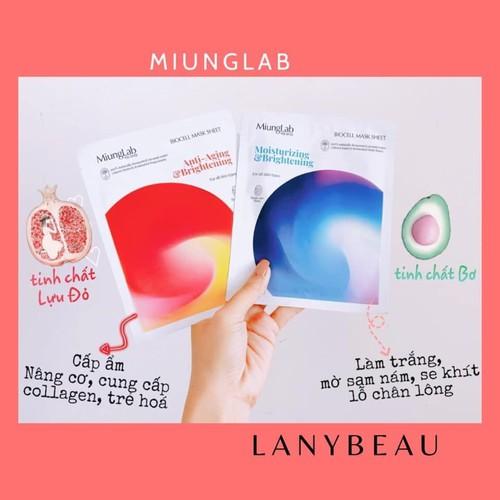 Mặt nạ miung_lab dưỡng da, căng bóng, mịn màng