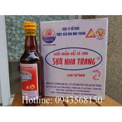 1 thùng nước mắm 584 Nha Trang 30 độ đạm chai nhựa 500ml