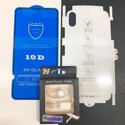 Bộ 3 THẦN THÁNH: Kính Cường Lực10d  + Miếng Dán PPF +BỘ Bảo Vệ Camera Cho Iphone 7plus,8plus,X,Xs,XR,XSmax