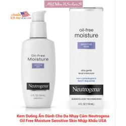 Kem Dưỡng Ẩm Dành Cho Da Nhạy Cảm Neutrogena Oil Free Moisture Sensitive Skin Nhập Khẩu USA