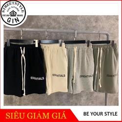 Quần shorts thun in chữ - Gin store