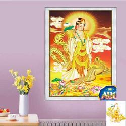 DF573-Tranh đính đá Phật Quan Âm 55x85cm chưa đính