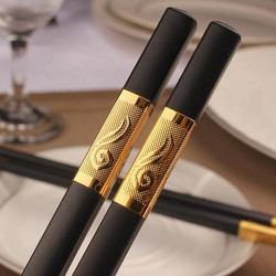 ĐŨA TẾT-Combo 3 hộp đũa 30 đôi viền vàng hợp kim Hàn Quốc