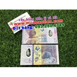 Tiền hình con chuột Sao Tome mệnh giá 5 Dobra polyme lì xì Canh Tý