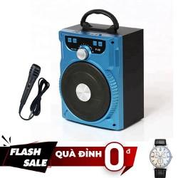 [ Tặng đồng hồ đeo tay ] Loa Karaoke Bluetooth xách tay P88 Cực chất KÈM MICRO