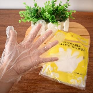 Hộp 100 Đdôi găng tay nylon trong suốt chế biến thực phẩm - An toàn sạch sẽ - GTTP thumbnail