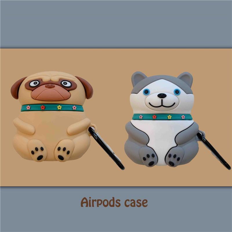 Ốp Airpods 1/2 Chó Pug & Husky - PK506