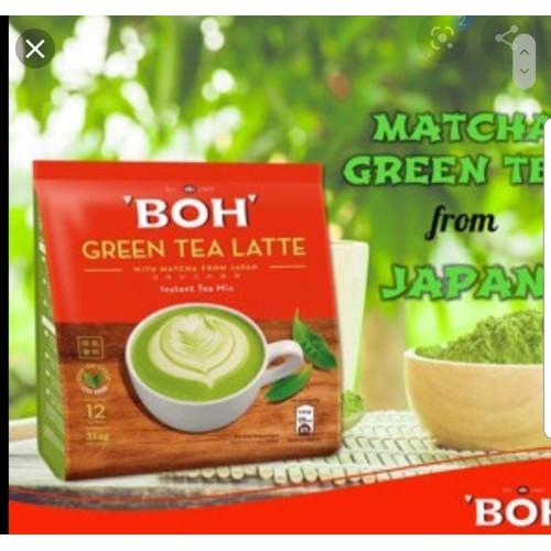 Trà sữa boh green tea latte - matcha trà xanh
