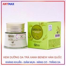 Kem dưỡng da trà xanh Benew Whitening Natural Herb Cream 60ml - Kem trà xanh Benew