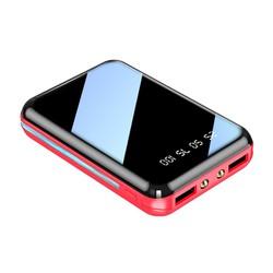 Pin sạc dự phòng Cát Thái A19 dung lượng 9000mAh siêu nhỏ gọn dễ dàng bỏ túi màn hình Full kính hiển thị lượng pin 2 cổng USB 2 đèn pin led thích hợp cho các bạn sử dụng Android