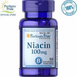 Thực phẩm chức năng bổ sung vitamin B3 Niacin 100mg tốt cho tim và da của Puritan Pride Mỹ