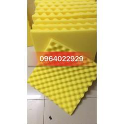 [Hỗ trợ PVC]  Mút tiêu âm, mút cách âm hình trứng 40x40x3cm cho phòng thu - Mút tỉ trọng cao