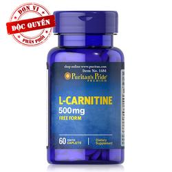 Viên uống giảm cân đốt mỡ tăng cơ cho cả nam và nữ L-Carnitine 500mg của Puritan Pride Mỹ