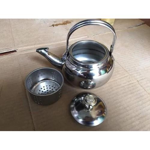Ấm lọc trà inox