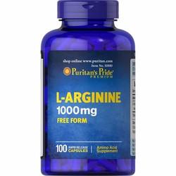 Viên uống thải độc gan và tăng cường sinh lý nam L-Arginine 1000mg của Puritan Pride Mỹ