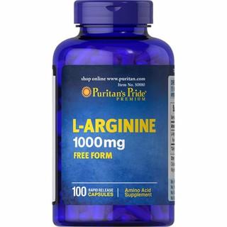 Viên uống thải độc gan và tăng cường sinh lý nam L-Arginine 1000mg của Puritan Pride Mỹ - 50880 thumbnail