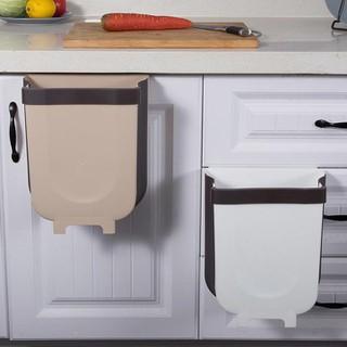 Thùng rác thông minh gấp gọn làm bằng nhựa cứng, dùng để treo tủ bếp, sau ghế ô tô. - THÙNG RÁC GẤP GỌN thumbnail