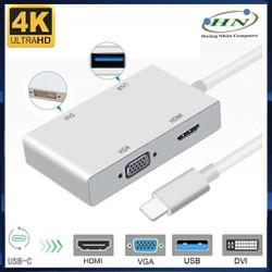 [FREESHIP]  Cáp Chuyển Type-C ra HDMI, VGA, DVI, USB 3.0