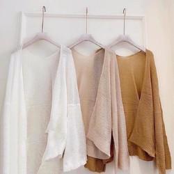 Áo khoác len mỏng nhiều màu