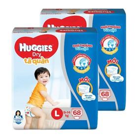 Tã Quần Huggies Dry CHÍNH HÃNG - M76 L68 XL62 XXL56 NGUYÊN KIỆN DATE MỚI NHẤT - Huggies Dry