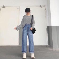 Quần Jeans Ống Suông Phong Cách