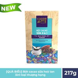 Bột cacao sữa hoà tan 3in1 CacaoMi - 217g
