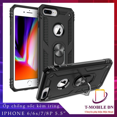 Ốp lưng iphone 6 plus 6s plus 7 plus 8 plus, ốp chống sốc 2 lớp kèm nhẫn ring giá đỡ chuẩn quân đội cho iphone 6 plus 6s plus 7 plus 8 plus - 19084755 , 24661530 , 15_24661530 , 89000 , Op-lung-iphone-6-plus-6s-plus-7-plus-8-plus-op-chong-soc-2-lop-kem-nhan-ring-gia-do-chuan-quan-doi-cho-iphone-6-plus-6s-plus-7-plus-8-plus-15_24661530 , sendo.vn , Ốp lưng iphone 6 plus 6s plus 7 plus 8 plu