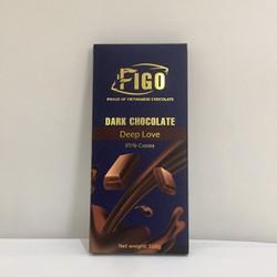 [Chính hãng] Dark Chocolate Socola đen đắng giảm cân 85 phần trăm Cacao Figo thanh 100gr