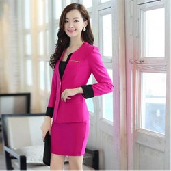 Set áo Vest + Chân Váy Công Sở