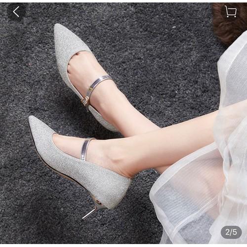 Giày cao gót 5p nhũ cực xinh mã c20 - 21394976 , 24654960 , 15_24654960 , 299000 , Giay-cao-got-5p-nhu-cuc-xinh-ma-c20-15_24654960 , sendo.vn , Giày cao gót 5p nhũ cực xinh mã c20