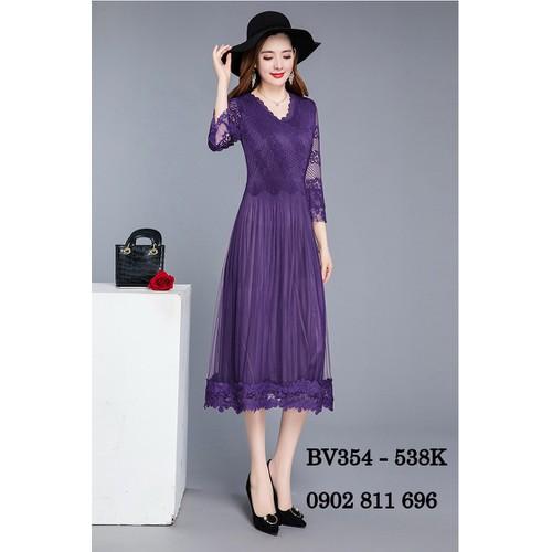 Đầm giấu bụng thanh lịch cao cấp bv354