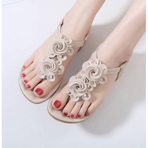 [Hỗ trợ cước mua] giày sandal kết hoa cao cấp m1
