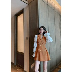 váy thiết kế cổ vest