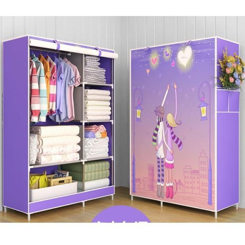 Tủ vải - tủ vải - tủ vải - tủ vải 2 buồng 6 ngăn xếp gọn 3d - tv2b6n002