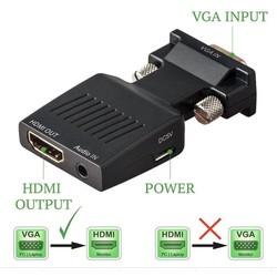 Đầu chuyển VGA to HDMI có âm thanh