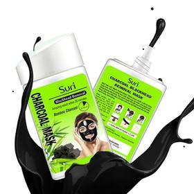Mặt Nạ Lột Mụn Mặt Nạ Lột Mụn Suri Blackhead Removal Bomboo Charoal Mask Tinh Chất Than - Mặt Nạ Lột Mụn Suri