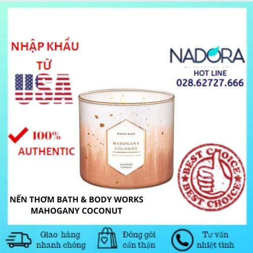 Nến thơm mahogany coconut bath and body works 411g