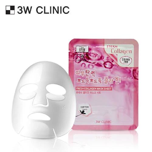 Combo 5 mặt nạ chiết xuất từ collagen 3w clinic hàn quốc 23mlx5