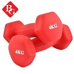 BG Bộ 2 tạ tay thép đặc cao cấp Thái Lan 4kg màu đỏ gồm 2 tạ mỗi tạ 4kg