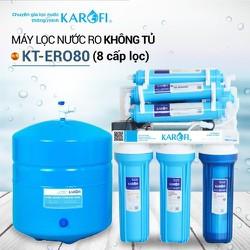 Máy lọc nước RO để gầm, không tủ KAROFI KT-ERO80 8 cấp lọc - hàng chính hãng - KT-ERO80