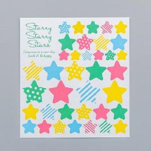 Sticker - miếng 37 stickers dán starry stars dễ thương trang trí planner, bullet journal [stp-a]