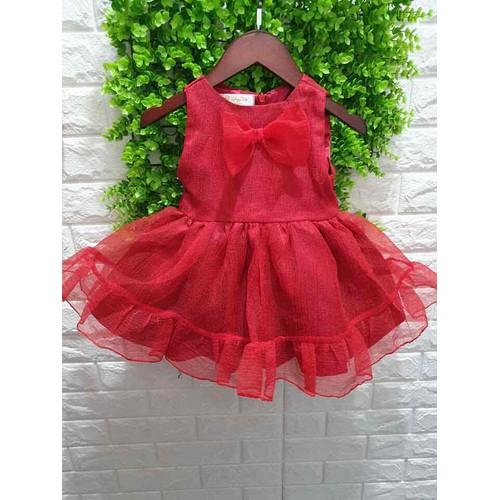 Đầm phồng đỏ